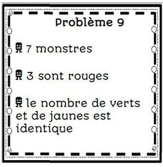 Maths problem solving with problèmes de monstres Logic Games For Kids, Math Problem Solving, French Immersion, Math Problems, Math Numbers, Cycle 3, 1st Grade Math, Teaching French, Brain Teasers