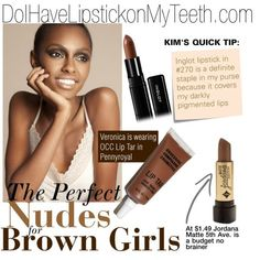"""Nudes for Brown Girls"" by kimwhitemakeup on Polyvore"