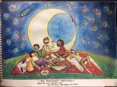 """The Midnight Meeting"" by Vishwani Chauhan; watercolour, ink, and pencil on paper."