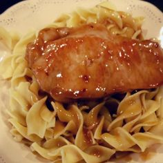 One of my favorite pork recipes.  We like the sauce on both mashed potatoes or noodles!
