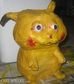 Cake Wrecks - Pikachu has seen too much...