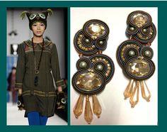 Orecchini realizzati  a mano tecnica soutache disponibili www.frapilu.it #handmadeinitaly  Earrings #handmadeinitaly soutache style available contact us www.frapilu.it