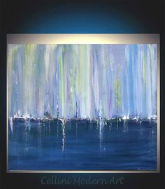 Original Abstract Painting Palette Knife Abstract  Art  Textured Painting Reflections Series. $150.00, via Etsy.