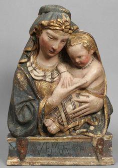 Jacopo della Quercia, Madone à l'enfant (Siena, ca. 1430, Musée Pouchkine, Moscou)