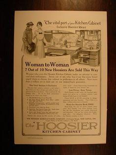 hoosier cabinet original Advertisements for