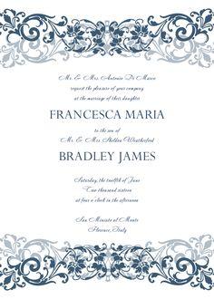 30+ Free Wedding Invitations Templates | 21st - Bridal World - Wedding Lists and Trends