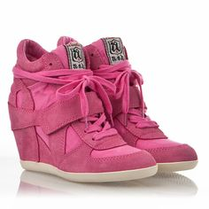ASH Womens Bowie Wedge Sneaker Pink Suede cute and young! only sale:$136 now!!!