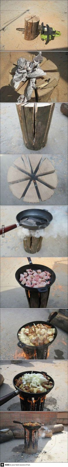 Camping stove Finnish style