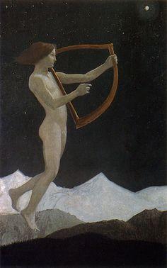 Moon Night, 1906 by Sascha Schneider (German, 1870-1927)