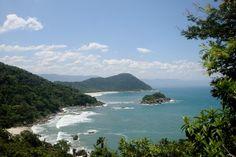 Praia Branca, em Bertioga. Visite o BrasilGuias