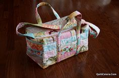 Diaper Bag using jelly roll and a charm pack, yields two