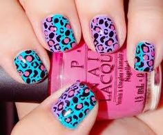 cute and funky cheetah nails. Just for my accent finger! Love Nails, How To Do Nails, Pretty Nails, Fun Nails, Style Nails, Crazy Nails, Sexy Nails, Gorgeous Nails, Nail Art Designs