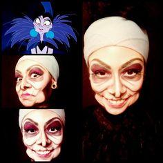 @_babydoll13 | Short little instagram video. Yzma from Emperor's New Groove Halloween makeup! AMAZING