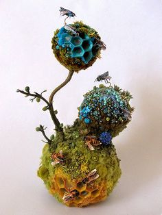Amy Gross - Pollinating Biotope, Blue