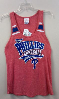 99 Cent Auction #PhiladelphiaPhillies Women's #TankTop SMALL 5th & Ocean Heathered NWT Relaxed  #5thOcean #Phillies #MLB