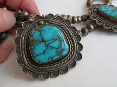 Exceptional red mountain Turquoise large stone Navajo Necklace squash blossom | Jewelry & Watches, Ethnic, Regional & Tribal, Mexican | eBay!