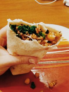 Rice, Black Bean Burrito