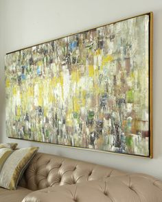 Original design by Jinlu is hand painted in oil and finished in a dark glazed, bronze-leaf gallery frame. From the John-Richard Collection. Abstract Wall Art, Canvas Wall Art, Painting Abstract, Painting Art, Canvas Prints, Oeuvre D'art, Painting Inspiration, Wall Art Decor, Original Paintings
