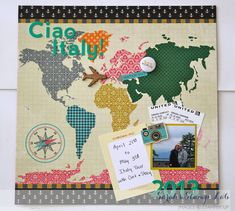 April 2014 Scraptastic Kit - Italy Book Opening Page Layout - Scrapbook.com