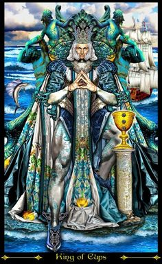 King of Cups - Illuminati Tarot - Eric C. Dunne