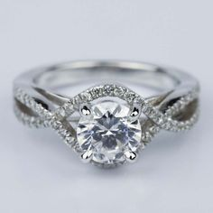 Would you wear this beautiful Cross Split Shank Engagement Ring with Moissanite Center Stone?