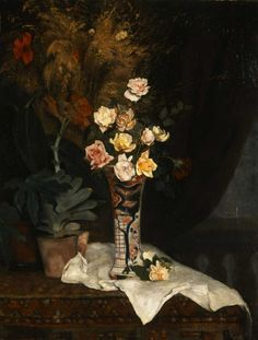 Still life with flowers, 1877 by Pericles Pantazis Classical Period, Classical Art, Hellenistic Period, Greek Art, Art Database, Illustrations, Art Google, Impressionist, Lovers Art