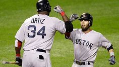 Image discovered by Find images and videos about boston red sox, david ortiz and dustin pedroia on We Heart It - the app to get lost in what you love. Dustin Pedroia, David Ortiz, Boston Red Sox, Espn, We Heart It, First Love, Socks, Baseball Cards
