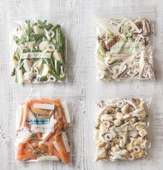 味噌汁の具材も冷凍しておくと、ますます便利!