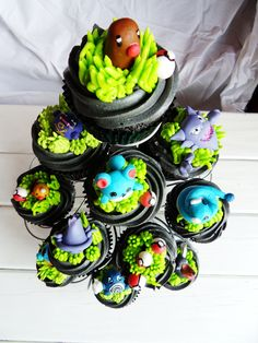 Pretty Pokemon Cupcake Tree