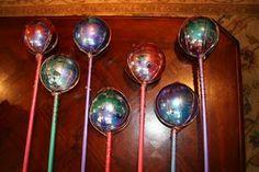 DIY gazing balls.