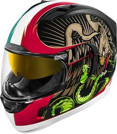 b30332855d Icon Alliance GT La Bandera Mens Motorbike Biker Motorcycle DOT Helmets Icon  Motorsports