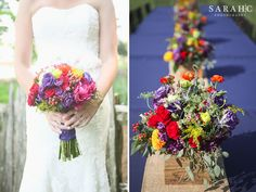 summery, bold, colorful wedding bouquets by @moxiethrift on etsy Teague