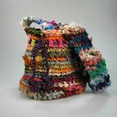 Recycled Silk Sari Ribbon Purse