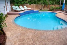 resurface your concrete pool deck with carvestone by allied outdoor solutions houston tx pool deck overlay ...