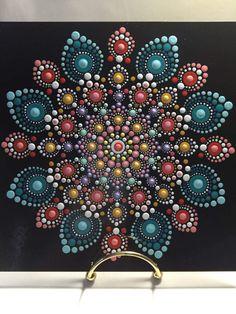 Hand Painted Mandala on an Artist Panel Meditation by MafaStones