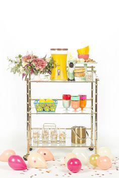 How To Style A Combo Bar Cart Buffet | Dream Green DIY