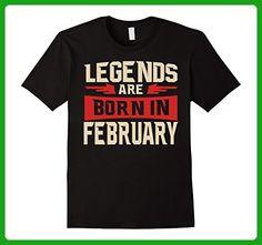 Mens Legends Are Born In February T-shirt - Birthday TShirt 3XL Black - Birthday shirts (*Amazon Partner-Link)