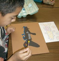 Fourth grade students are studying Aboriginal Dot Paintings from Australia.  We looked at several different examples of dot paintings, both ...