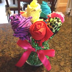 Panty bouquet for my girlfriend's birthday!!