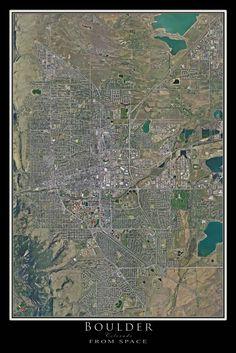 Seattle Washington Satellite Poster Map