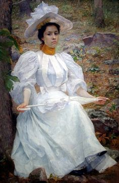 """""""Sophie Hunter Colston"""", 1896, by William Robinson Leigh (American, 1866-1955)"""