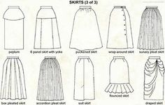 Different Skirt Styles Chart | eBay