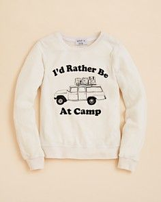 WILDFOX Girls' I'd Rather Be at Camp Baggy Beach Jumper - Sizes 7-14