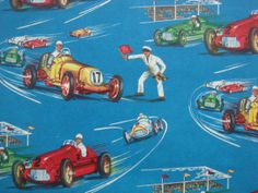 Vintage Gift Wrapping Paper  Auto Racing  by TheGOOSEandTheHOUND, $6.00