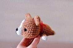 Corgi with red ribbon (mochillery) Tags: dog cute puppy corgi crochet amigurumi mochillery