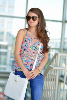 Neon cut-out top <3
