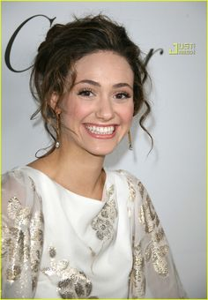 Emmy Rossum (in Marchesa) attends the celebration of the launch of the new book entitled