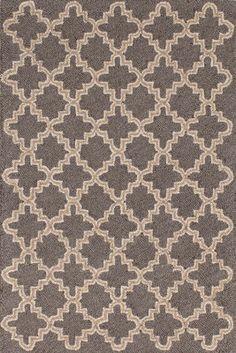 Dash & Albert Plain Tin Charcoal Grey Wool Area Rugs | J Brulee Home