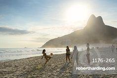 People playing altinha (football) on Ipanema beach, Rio de Janeiro, Brazil…