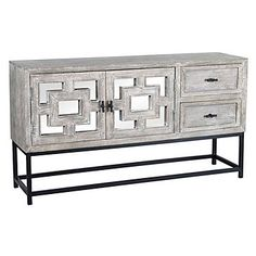 Marabella 2 Drawer Console by Z Gallerie Gray Console Table, Console Table Styling, Modern Console Tables, Small Sideboard, Ottoman Table, Affordable Modern Furniture, Dining Room Inspiration, Home Decor Store, Stores